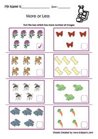 math worksheet : more or less worksheets activity sheets for kids worksheets for  : More And Less Worksheets For Kindergarten