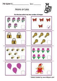 math worksheet : more or less worksheets activity sheets for kids worksheets for  : More And Less Worksheets Kindergarten