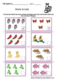 math worksheet : different shapes more or less worksheetpre school activity sheet  : More And Less Worksheets For Kindergarten