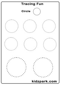 math worksheet : kindergarten tracing circle worksheets for kidsmotor skills  : Kindergarten Tracing Worksheets