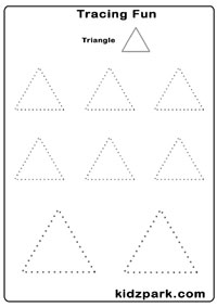 math worksheet : tracing shapes worksheetspre school activity sheetdownloadable  : Triangle Worksheets For Kindergarten