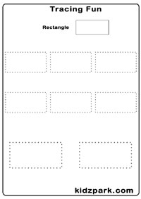 Tracing Shapes Worksheets,Early Teaching Worksheets,Kindergarten ...