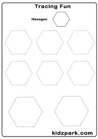Printables Hexagon Worksheets hexagon worksheets davezan tracing shapes assessment worksheet k g worksheets