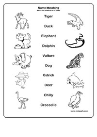 Printables Kg Worksheets kindergarten printable activities names matchinghome schooling class pre kg lkg ukg 1 2