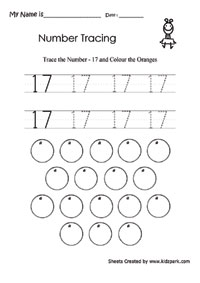 Worksheets Number 17 Worksheet learning number 17 worksheetkindergarten activity sheetshome worksheet