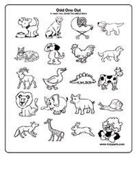 math worksheet : ukg worksheet for kids to take odd one outdownloadable activity  : Odd One Out Worksheets For Kindergarten