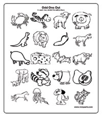 math worksheet : identify the pattern and cross odd onereading worksheets for  : Odd One Out Worksheets For Kindergarten
