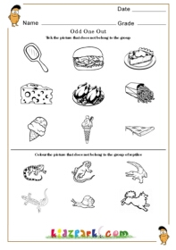 ... one out Worksheets,Kindergarten Activity Sheets,Printable Worksheets