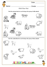 worksheet for kindergarten to take odd one out print out worksheets for kids teachers printables. Black Bedroom Furniture Sets. Home Design Ideas