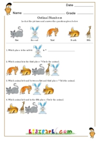Ordinal Number Worksheets,Math Worksheets Ordinal Numbers
