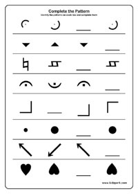 Shapes And Patterns Worksheets, Thicker or Thinner Teachers Printables