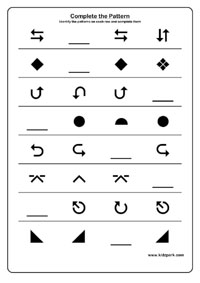 Shape Patterns Activity Sheet For Grade 2, Word Power Teachers ...