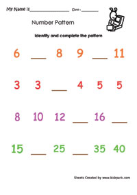 See more : Fun with Patterns Worksheets