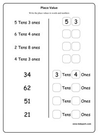 Activity Sheet For Kindergarten Place Values,Beginning Place Value ...Place Value, Place Value