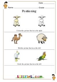 Class 1 Worksheet For Kids To Know Position,Kindergarten ...Positioning