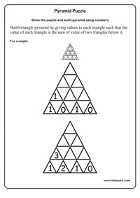math worksheet : numbers using pyramid puzzle worksheetspyramid number puzzlemath  : Maths Pyramids Worksheets