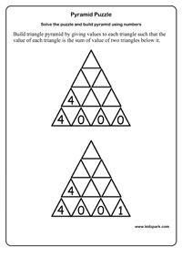 Triangle Pyramid Puzzle Activity Sheet,Critical Thinking Puzzles ...