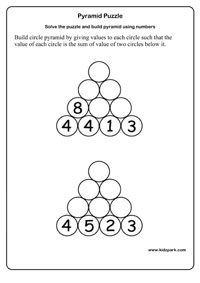 Critical Thinking Pyramid Puzzle Activity Sheet,Class 2 Activity ...