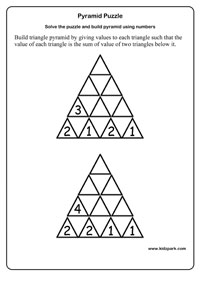 math worksheet : class 2 pyramid puzzle worksheetsprintable math sheetsteachers  : Maths Puzzle Worksheets