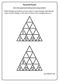 math worksheet : math numbers using pyramid puzzle grade 1 worksheetsprintable  : Class 6 Maths Worksheets