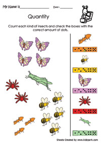 math worksheet : count each kind of insects data handling worksheeteducational  : Insects Worksheets For Kindergarten