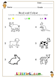 read and colour worksheet - Activity Sheets For Toddlers