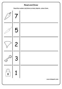 math worksheet : read and draw worksheetskindergarten teachers resourcesmath  : Kindergarten Drawing Worksheets