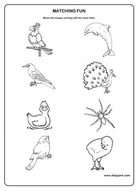 same beginning sound - Activity Sheets For Toddlers