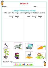 math worksheet : living  non living things science worksheets : Living And Nonliving Things Kindergarten Worksheets