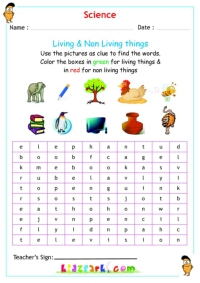 Worksheets Classify Living And Nonliving Things Worksheet classify living non things science things