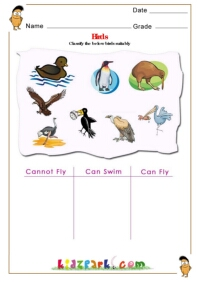 land and water animals science worksheet. Black Bedroom Furniture Sets. Home Design Ideas