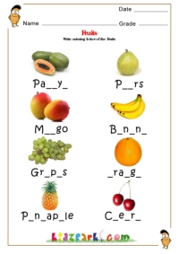 Fruits & Vegetables Science Worksheets for Kindergarten