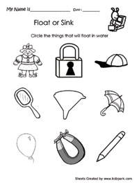 Worksheets Sink Or Float Worksheet sink or float worksheets for kindergarten intrepidpath and activity worksheet of vohetate
