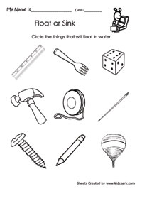 Worksheets Sink Or Float Worksheet sink or float worksheets for kindergarten sci k exp b3 4 gif worksheet to circle that object activity kindergarten