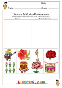 Worksheets Instrument Worksheets For Preschool flower and musical instruments worksheetseducational worksheets k 3 science worksheet