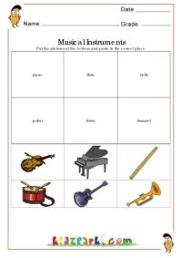 Worksheets Instrument Worksheets For Preschool musical instruments worksheetenvironmental worksheets for kids k 3 science worksheet