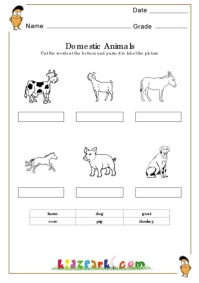 domestic animals worksheets activity sheets for kids assessment worksheets. Black Bedroom Furniture Sets. Home Design Ideas