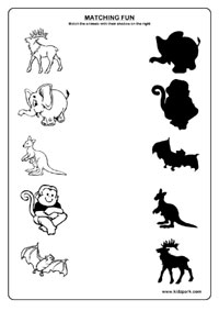 math worksheet : animals worksheetsmatching worksheets for kidskindergarten  : Animals Worksheet For Kindergarten