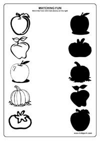 Fruits Worksheets,Kindergarten Curriculam,Printable and Downloadable ...