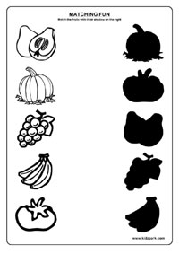 Fruits Worksheets Printable Worksheets Science Matching