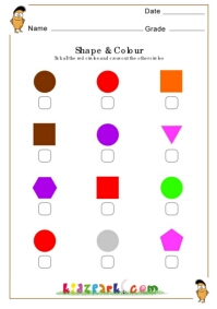 Circles Shapes Worksheet To Tick And Cross Printable