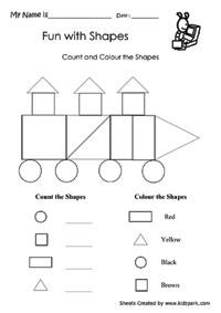 Shape Worksheets,School Worksheets,Teachers Teaching Aid Worksheets