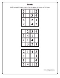 Printables Sudoku Worksheets sudoku worksheets activity sheets for kids puzzle 4x4 easy 1 sample worksheet