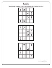 math worksheet : easy worksheetsmath sudoku worksheetsdownloadable and printable  : Sudoku Worksheets