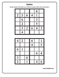 Printables Sudoku Worksheets sudoku worksheets activity sheets for kids puzzle worksheets