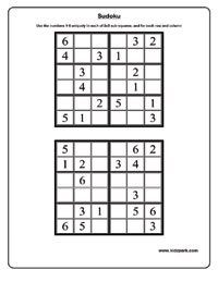 6x6 sudoku - Medium worksheets,Printable Sudoku Worksheets