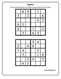 graphic about 6x6 Sudoku Printable known as 6x6 sudoku - Medium Worksheets,Printable Actions for Boy or girl