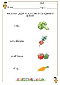 vegetables names in tamil and english with pictures in pdf